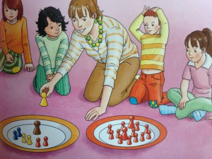 Klare Illustrationen in der Buchreihe von Hansen und Knauer